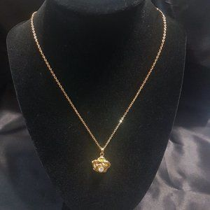 "Hidden Gems ""Gold"" Rose Necklace"